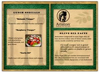 Ariston Dinner Menu E-blast