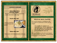 Ariston Appetizer Menu E-blast