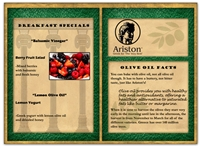 Ariston Breakfast Menu E-blast