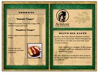 Ariston Dessert Menu E-blast