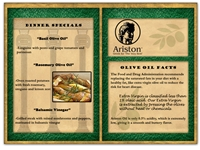 Ariston Lunch Menu E-blast
